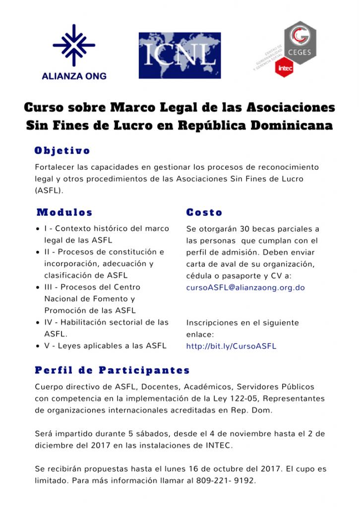 Curso sobre marco legal - Centro Virtual para la transparencia y la ...